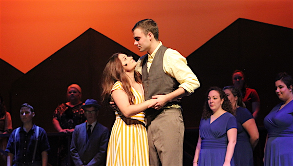 """Alice Murphy and Jimmy Ray think ahead to what they believe will be a good future in RFCT's new production of """"Bright Star."""""""