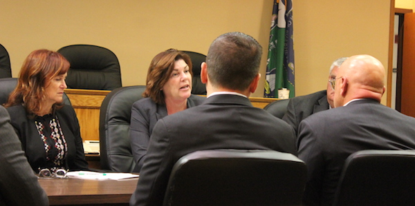 Town Supervisor Laura Jens-Smith at the Oct. 17 work session.