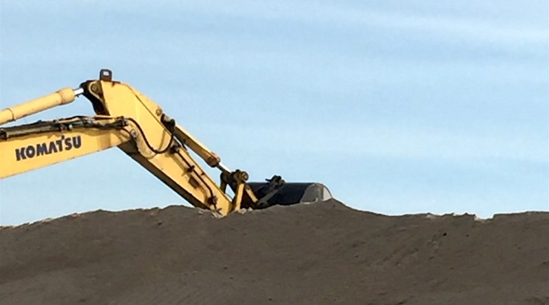 Veterans Day work down at the east end of Dune Road.
