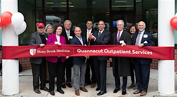 At the Oct. 20 ribbon-cutting ceremony. | photo courtesy Stony Brook Eastern Long Island Hospital