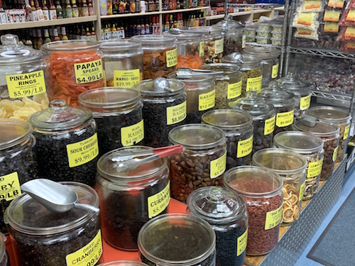 In the spice aisle at Kalustyan on Lexington Avenue in Manhattan