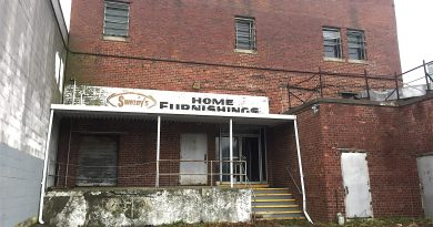 The Swezey's Home Furnishings building in downtown Riverhead, which could be demolished.