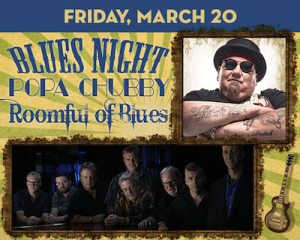 Blues Night: Popa Chubby & Roomful of Blues at The Suffolk Theater
