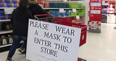 Target in Riverhead enforces the state directive to wear a face covering in public.