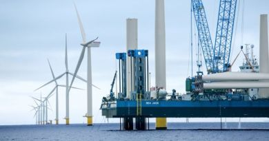 Ørsted's Anholt offshore wind farm under construction in Denmark