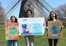 Annabelle, Harry, and Olivia Roussel of Sag Harbor - who made signs at home to motivate Long Islanders to sign the Letter Of Support.