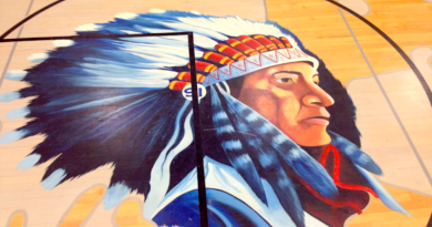 The school mascot, a plains Indian, doesn't honor Native Americans, say students.