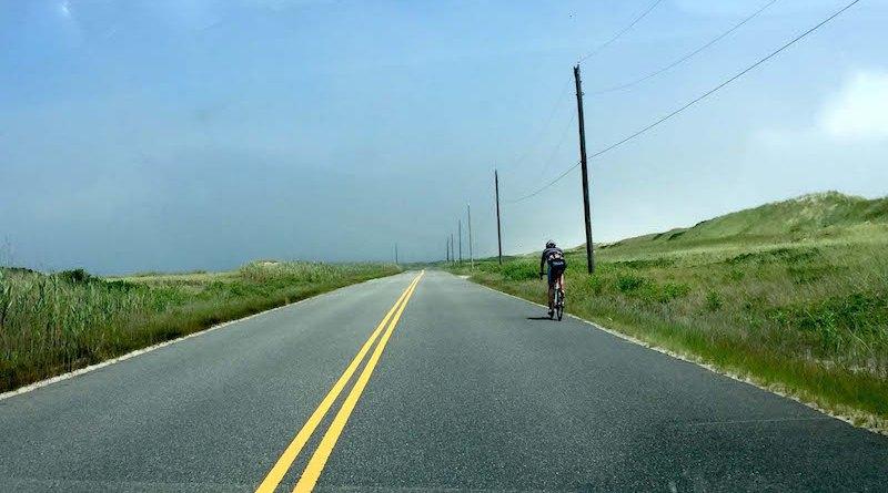 Dune Road bicyclist