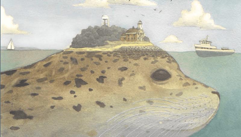 Artist Scott Bluedorn's cover for the Envision Plum Island report.