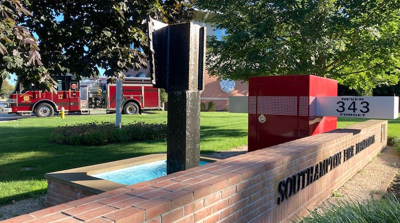 Sept. 11 memorial at the Southampton Fire Department