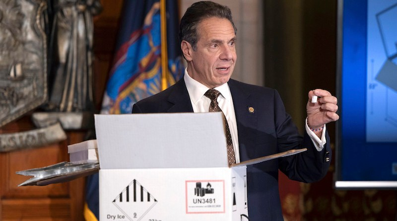 New York Governor Andrew Cuomo explains the Covid-19 vaccine distribution process.