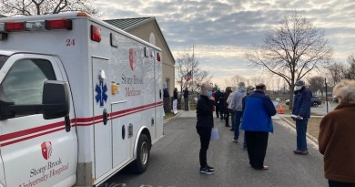 """Dr. Fauci's cavalry began to arrive on the East End this week in the form of Covid-19 vaccine clinics like one that delivered 1,000 doses of the Pfizer vaccine to Southold seniors on Thursday. Hear more at 10 a.m. this morning in """"Behind the Headlines"""" on WLIW FM 88.3"""