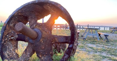 strange junk on the New Suffolk waterfront