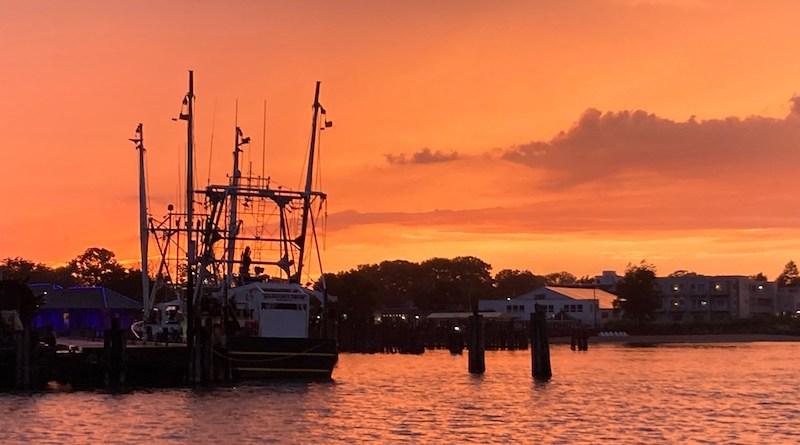 Fishing Boat, After Rain, Greenport Sunset
