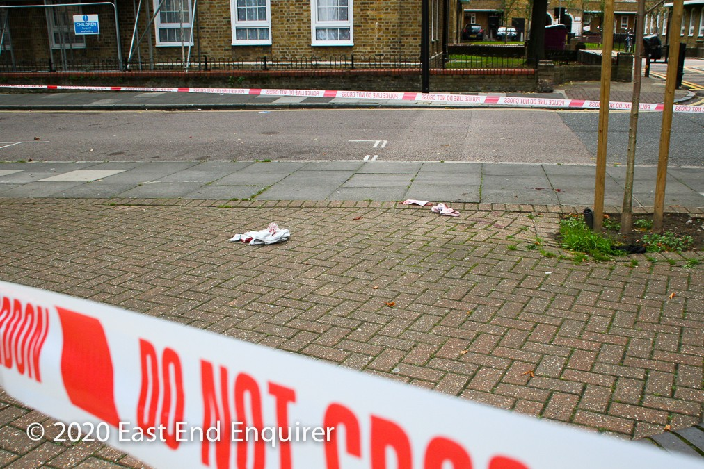 Photo of scene of assault at Wapping Green, Tower Hamlets, E1W