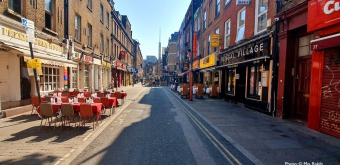 Photo of deserted Brick Lane