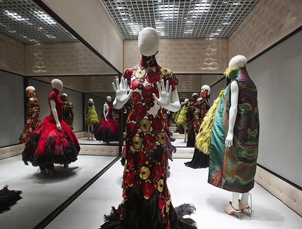 Installation view of Alexander McQueen Savage Beauty at the VA
