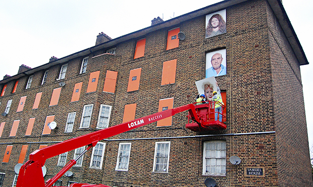I am Here installation at Haggerston Estate 2009–14. Photograph: Fugitive Images