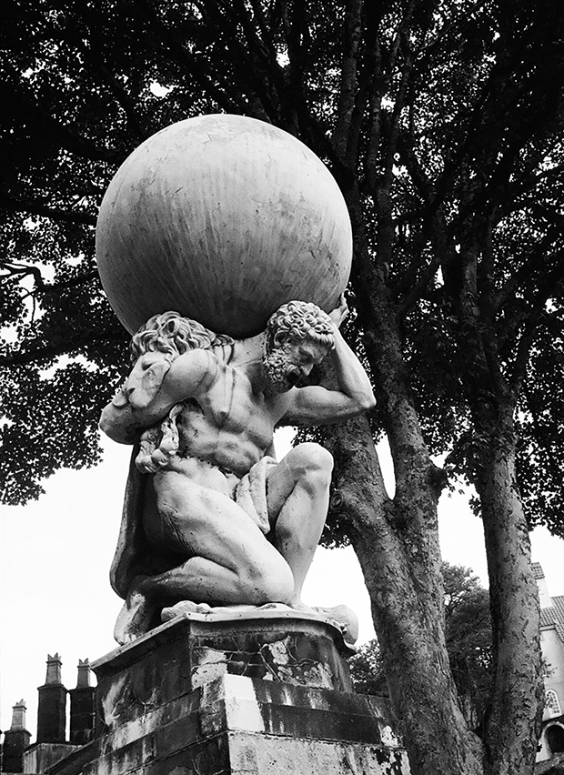 Statuesque: Atlas at Portmeirion, one of the featured places in the book. Photograph: Travis Elborough