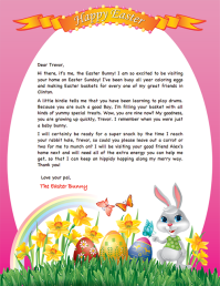 letter from the easter bunny template merry christmas and happy