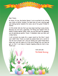 note from easter bunny template merry christmas and happy new year