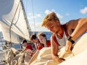 Students venture home on a sailboat