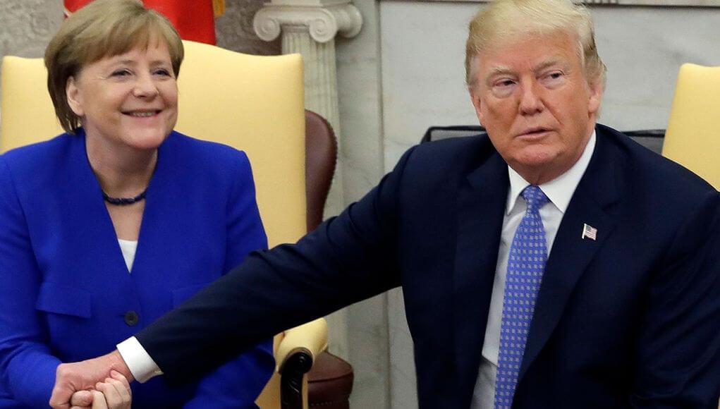 """Media talks about the """"heated debate"""" between Trump and Merkel"""