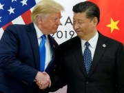 Donald Trump and Xi shaking hands