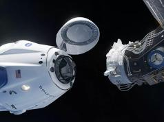 The Crew Dragon spacecraft successfully docked with the International Space Station