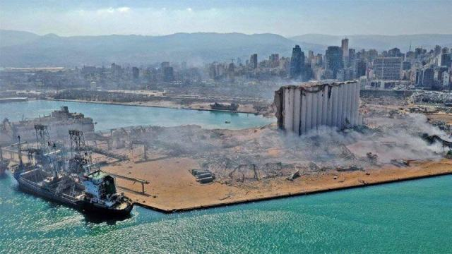 Lebanon Beirut Explosion real image of damage, terrorist attack on lebanon, Lebanon war