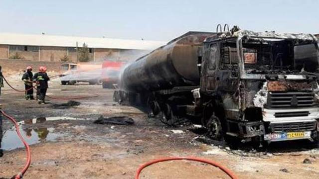 A gas tanker exploded on the Iran-Afghanistan border