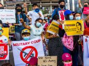 First killed in Myanmar due to repression of protests against the coup