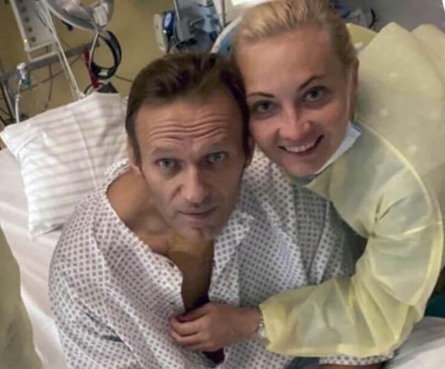 Yulia Navalny with Alexei Navalny