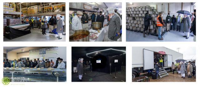 Inspection of different departments at Jalsa Salana UK 2021
