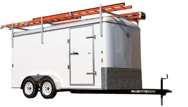 carry on enclosed utility trailer ladder rack 846