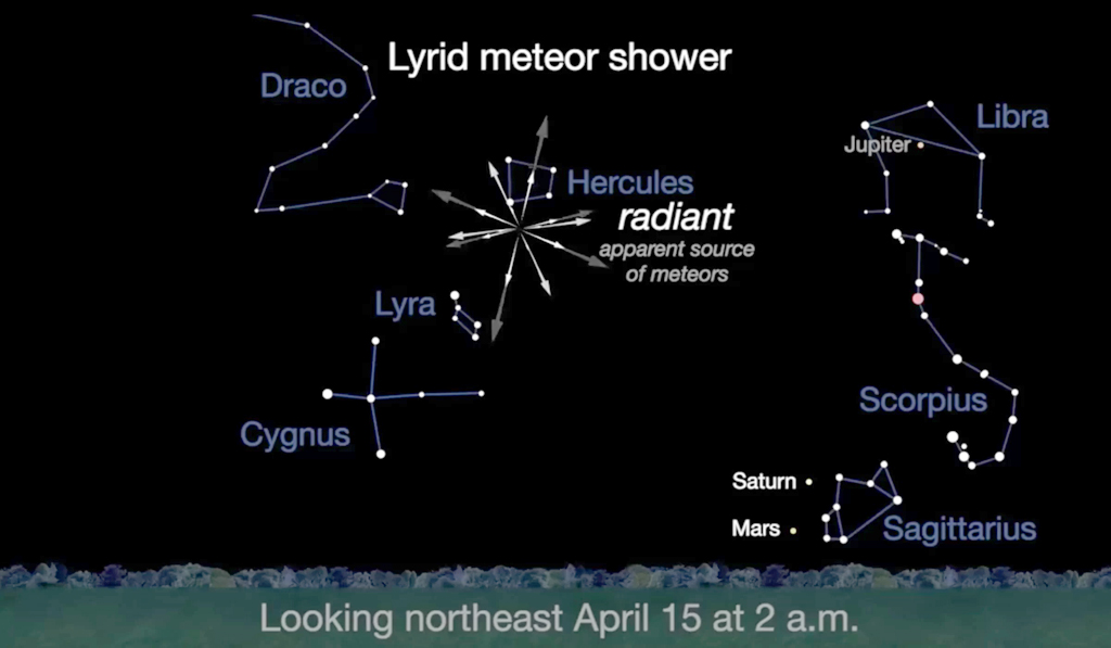 Lyrid meteor shower to light up sky on Earth Day