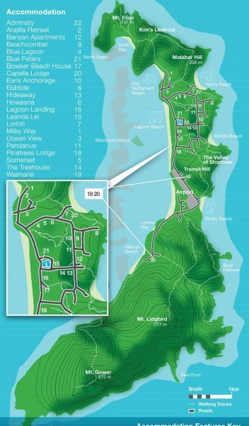 lord howe island map 1   Eastern Tour Services lord howe island map 1