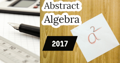 Abstract Algebra-2017