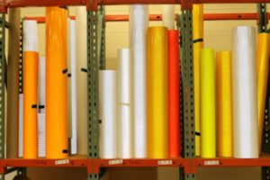 rolls of reflective acting paper for road signs