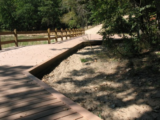 A boardwalk at Indiana Dunes State Park