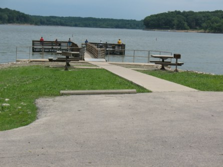 Fishing pier at Raccoon Lake