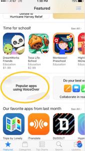 VoiceOver App Store