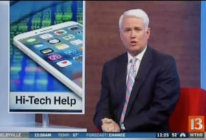 Channel 13 interview about hi-tech help for persons with disabilities
