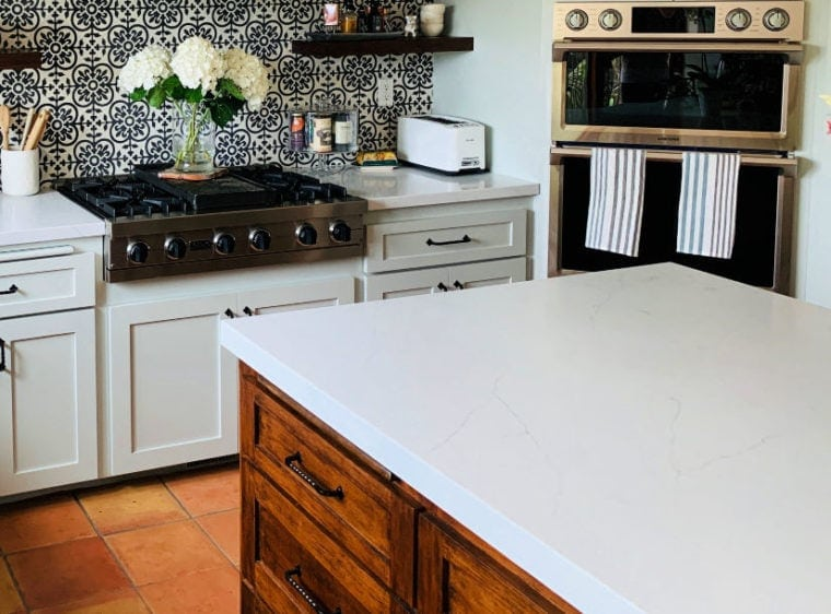 Modern Farmhouse Kitchen Reveal: Before & After - EA Stewart on Farmhouse Countertops  id=81929