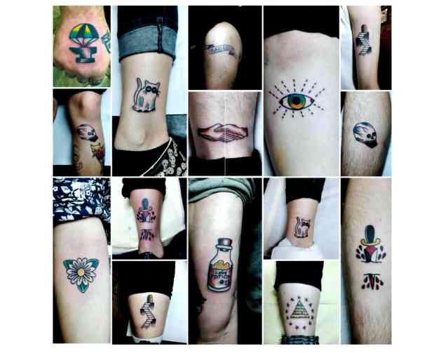 Eastfallslocal tattoo collage