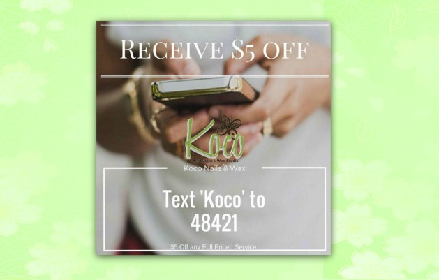 Koco text message deal