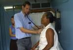 Dr Gerard Rudy Examines Elderly Patient