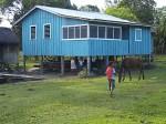 Blue House On Stilts