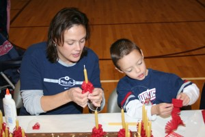 wrapping beeswax candles