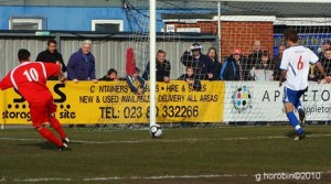 Drew Roberts slots home for St Albans